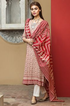 Khaadi – L17103-B-RED - Lawn 2017 Vol 1 - Unstitched