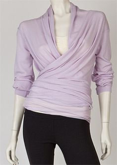 YOGA ACTIVEWEAR ON SALE AND CLEARANCE - DELUX WRAP IN ULTRA - SOFT MERINO - LAVENDER - Abi and Joseph