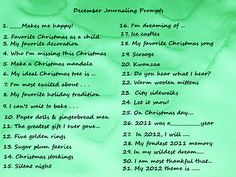 December art journaling prompts