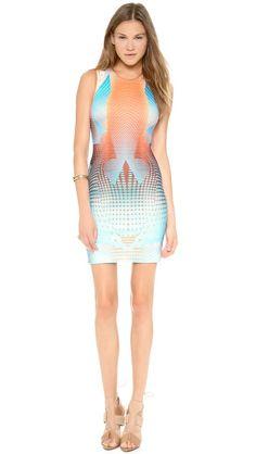 Clover Canyon Torqued Walls Dress - Blue @Shopbop #fashion