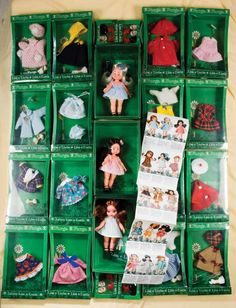 American Dolls 1950-1965: 389 Three Miniature Dolls by Furga with Extensive Costumes