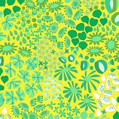 The Lovely Hunt, Flower Carpet in Green/Yellow