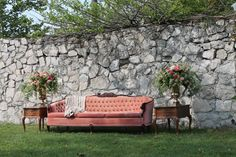 Vintage Wedding Furniture - A Romantic Vintage Wedding Inspiration Shoot from Sue Gallo Designs Vintage Sofa, Fall Wedding Decorations, Wedding Ideas, Wedding Stuff, Wedding Inspiration, Wedding Furniture, Park Weddings, Vintage Roses, Event Styling