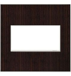 Legrand AWM2GWE4 adorne 2 Gang Wood Wall Plate - 6.56 Inches Wide Wenge Wood Indoor Lighting Wall Controls Wall Plates