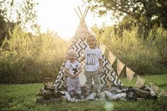 Just because it's pin-worthy #photoshoot #teepee #birthday #boys #brothers #camping
