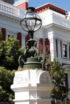 One of the ornate light fittings in the precinct of the South African Parliament building, Cape Town. Cape Town South Africa, North Africa, Cape Dutch, Boulder Beach, Le Cap, Port Elizabeth, Dream City, Most Beautiful Cities, Afrikaans