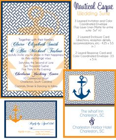 nautical wedding invites via party box design, nautical invites, wedding invitations, anchor wedding invites.