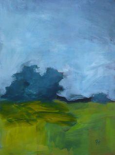 original landscape painting | restless day | pamelam etsy