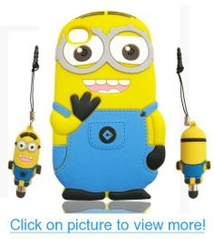 3D Despicable Me 2 Minion Soft Silicone Case Defender Cover for Apple iPod Touch 4 4th Generation