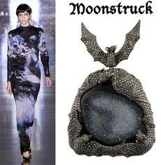 Mary Katrantzou and Lydia Courteille Bat pendant. http://amusingold.com/trend/halloween-anello-o-pendente