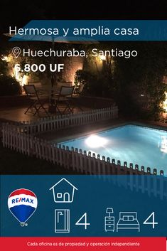 [#Casa en #Venta] - HERMOSA Y AMPLIA CASA 🛏: 4 🚿: 4  👉🏼 http://www.remax.cl/1028055003-3   #propiedades #inmuebles #bienesraices #inmobiliaria #agenteinmobiliario #exclusividad #asesores #construcción #vivienda #realestate #invertir #REMAX #Broker #inversionistas #arquitectos #venta #arriendo #casa #departamento #oficina #chile