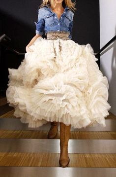 Swan Cloud Maxi Skirt