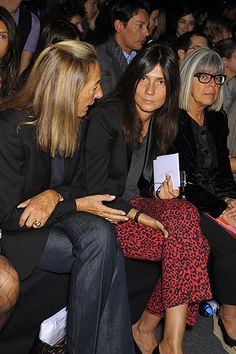 Emmanuelle Alt. leopard Balmain pants.