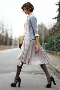 pleats, tights, pastels | Chic Fashion Pins : The Cutest Pins Around!!!