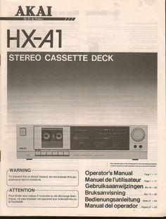 ORIGINAL VINTAGE HX - A1 STEREO   CASSETTE DECK MANUAL
