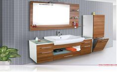 Suitable Cabinet Solutions for Small Rooms - decoration models Small Bathroom Cabinets, Narrow Bathroom, Bathroom Furniture, Modern Bathroom, Bathroom Ideas, Design Your Home, Decoration Table, Cabinet Design, Small Rooms