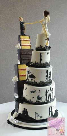 - # for # wedding-cake - Hochzeitstorte - wedding cakes cakes elegant cakes rustic cakes simple cakes unique cakes with flowers Amazing Wedding Cakes, Unique Wedding Cakes, Unique Cakes, Wedding Cake Designs, Creative Cakes, Amazing Cakes, Wedding Ideas, Crazy Wedding Cakes, Trendy Wedding
