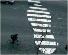 street art graffiti white stripe Roadsworth Makes Zebra Crossings More Fun #graffiti trendhunter.com