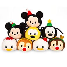 2014 Holiday Collection: (Limited Edition, Released in Japan & USA) Mickey Mouse, Minnie Mouse, Donald Duck, Daisy Duck, Goofy, Pluto, Chip, & Dale.