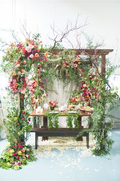 Last week we were invited to join three other local(ish) florists in  creating a romantic tablescape for a contest at Mayesh Wholesale. We were  free reign in the cooler full of thousands of blooms to make our  masterpiece and oh. my. god. did it come together beautifully. With some  last minute