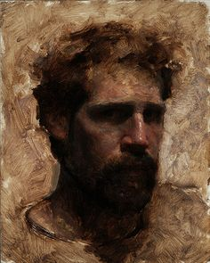 travis schlat | Travis Schlaht , Self Portrait, Age 36, oil on panel, 10 x 8 inches ...