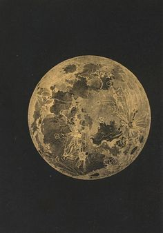 Charles F. Blunt. The moon. From The Beauty of the Heavens: A Pictorial Display of the Astronomical Phenomena of the Universe. 1842.