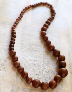 Kayce Hughes Wooden Necklace, $30