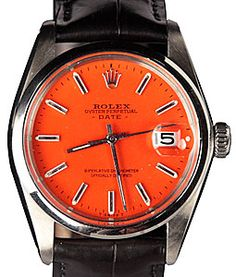 Orange clock Rolex #kleurinspiratie