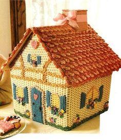 kiremit çatılı örgü şirin ev modeli