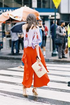 Spring color combos to try: Orange and Lilac