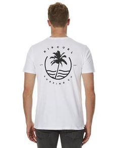 WHITE MENS CLOTHING RIP CURL TEES - CTEZY11000