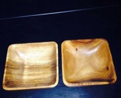 Solid Wooden Bowl Set! Great Condition! Set Of 2 For Salsa Dips Or Decor in Home & Garden | eBay