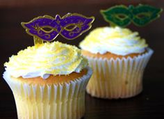 Party Ideas by Mardi Gras Outlet: Mardi Gras Cupcake Toppers