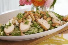 Vårens cæsarsalat med kyllingbryst