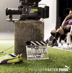 A rare pause on set for a football striker who never slows down. #ForeverFaster