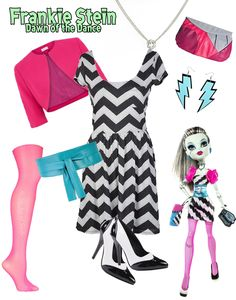 "monster high frankie stein  dawn of the dance | Frankie Stein ""Dawn of the Dance""- inspired look"