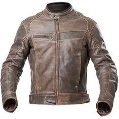 Jaqueta Couro Motociclista Riffel Prime Masculina Com Protetores Removíveis