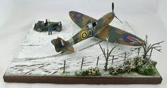 Revell 1/32 Spitfire Mk II Winter Diorama by BoweModels