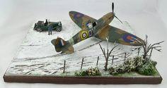 Revell 1/32 Spitfire Mk II Winter Diorama by BoweModels