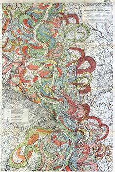 Mississippi River Meander Maps #map #mississippi