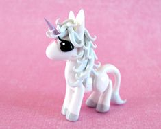 Mini Last Unicorn Sculpted by DragonsAndBeasties via Deviant Art-This is another of my favorites that she's done. She also has a full size version which turned out so awesome.