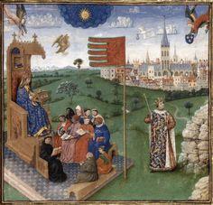 Koninklijke Bibliotheek van België, Brussel - Augustinus - Clovis ontvangt zijn wapenschild
