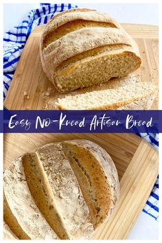 Easy No-Knead Artisan Bread...the easiest recipe for delicious, homemade bread! Just four simple ingredients and you'll be eating homemade bread all week long. Frugal Meals, Easy Meals, Good Food, Yummy Food, Delicious Recipes, Dinner Recipes, Top Recipes, Bread Recipes, Dinner Ideas