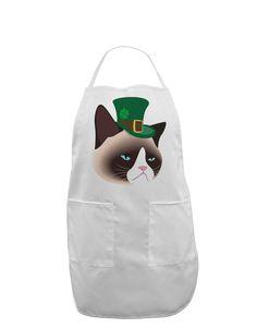 TooLoud Leprechaun Disgruntled Cat Adult Apron