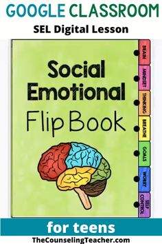 This social emotional flipbook includes 7 hot topics for supporting your students through distance learning or at school. It is interactive and highly engaging for teens. Middle School Counseling, School Social Work, School Counselor Lessons, Elementary Counseling, Social Emotional Activities, Emotional Support Classroom, School Psychology, Learning Psychology, Learning Quotes
