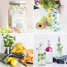 Diy-ohjeet ekompaan arkeen | Meillä kotona Natural Cleaning Products, Jaba, Diy Projects To Try, Gifts For Friends, Diy Gifts, Table Decorations, Knitting, Home Decor, Sewing