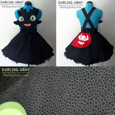 """Toothless HTTYD Cosplay Pinafore Dress Accessory"" by DarlingArmy.deviantart.com on @deviantART #HTTYD"