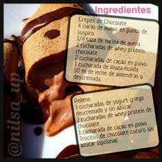 ".@nilsa_up | Crespes de chocolate. En bate las claras hasta ""punto de suspiro"" (... | Webstagram - the best Instagram viewer"