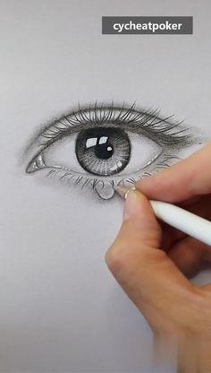 Art Drawings Beautiful, Art Drawings Sketches Simple, Pencil Art Drawings, Realistic Drawings, Drawing Ideas, Art Painting Gallery, Art Tutorials, Art Lessons, Eye Sketch