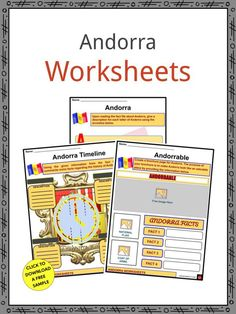 This is a fantastic bundle which includes everything you need to know about the Andorra across 23 in-depth pages. These are ready-to-use Andorra worksheets that are perfect for teaching students about the Andorra, officially titled the Principality of Andorra, which is a tiny principality (a country ruled by a prince) located in the Pyrenees Mountains between France to north and Spain to the south. Andorra is a popular destination for skiing and shopping. Curriculum, Homeschool, Geography Worksheets, Geography For Kids, Catholic Diocese, Mean People, Andorra, Fifth Grade, Pyrenees